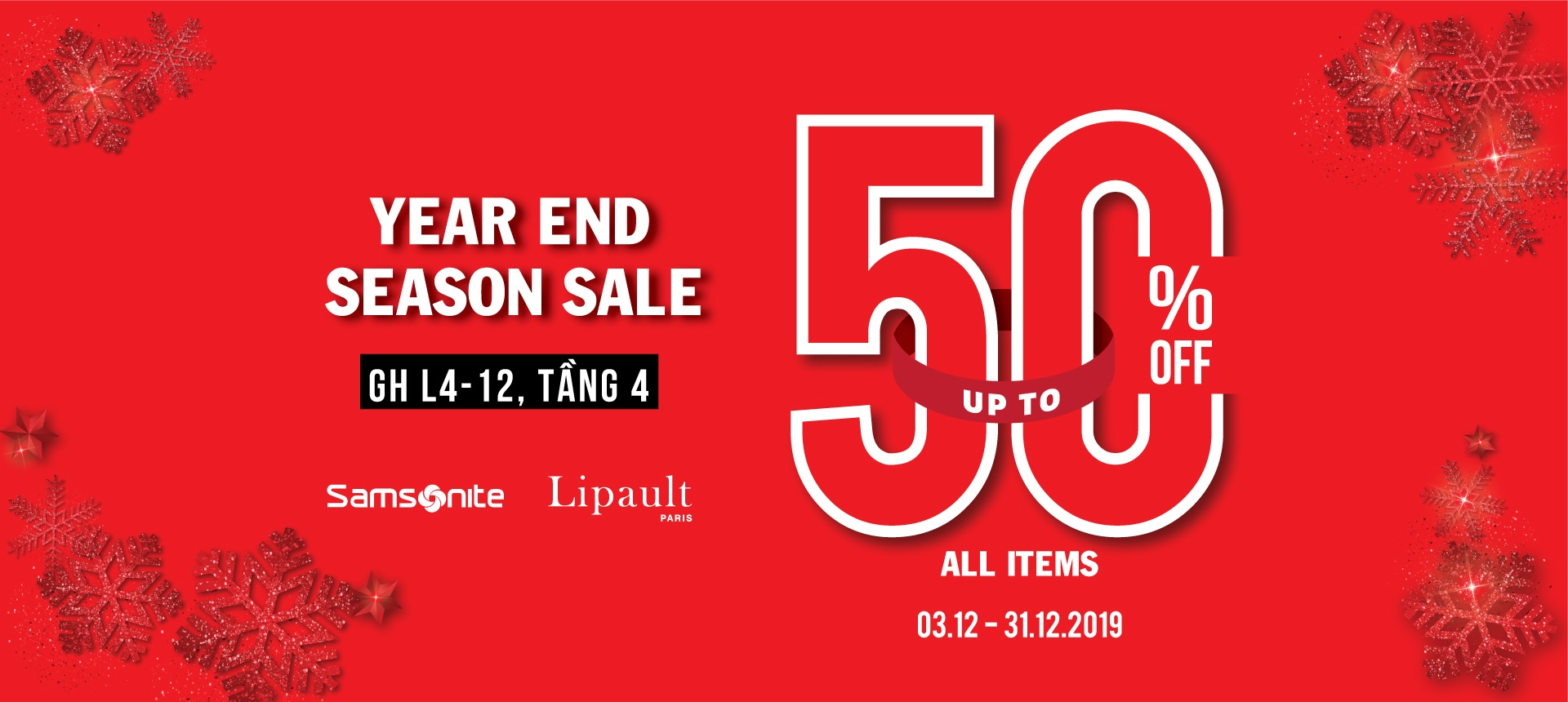 SAMSONITE YEAR END SALE