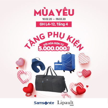 GIFTS ON 14/02 FROM SAMSONITE