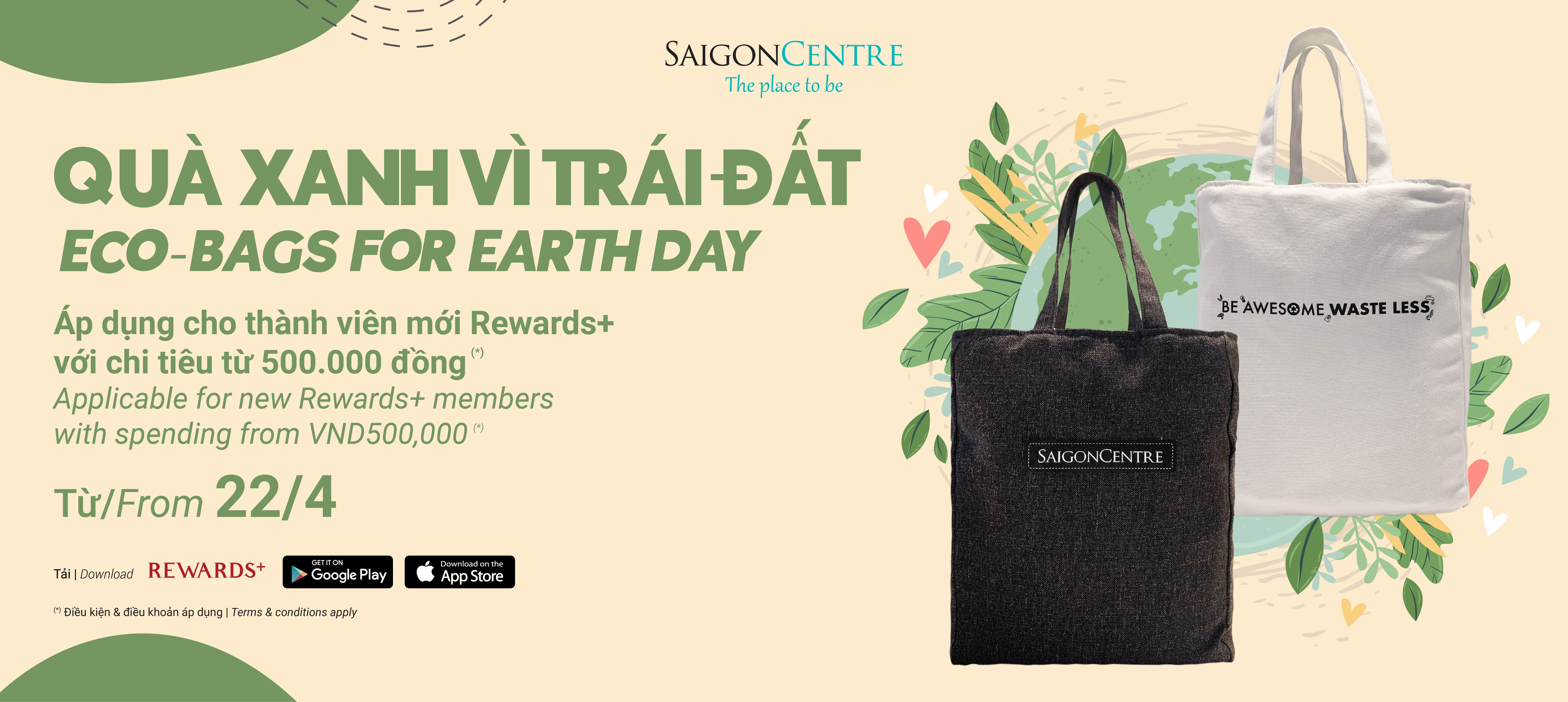ECO-BAGS FOR EARTH DAY